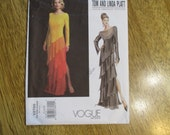 DESIGNER Tom and Linda Platt Bias Cut, Tiered Ombre Evening Gown - SHOWSTOPPER - Size (12 - 14 - 16) - Sewing Pattern Vogue 2799
