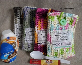 Coffee To-Go Pouch, Coffee Carry bag, Mood for Coffee, Bring Your Own Coffee or Tea Bag