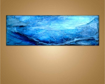 "Original Painting Contemporary Abstract Waterscape  "" 52 Hertz ""  by Holly Anderson Ships FREE within the USA"