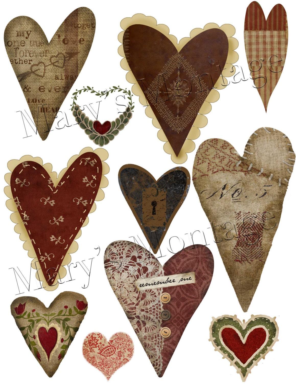Primitive Hearts 11 PNG Images