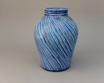 Ceramic Vase - Aquamarine Glazed Terracotta - Earthy and Elegant