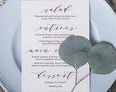 Wedding Menu Printable 5