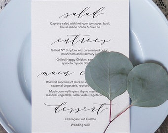 Wedding Menu 5 Printable