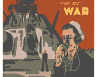 Grow Hemp for the War Vintage Reprint Poster