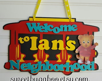 Daniel Tiger Door sign, Welcome Sign