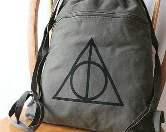 Deathly Hallows Harry Potter Canvas Backpack