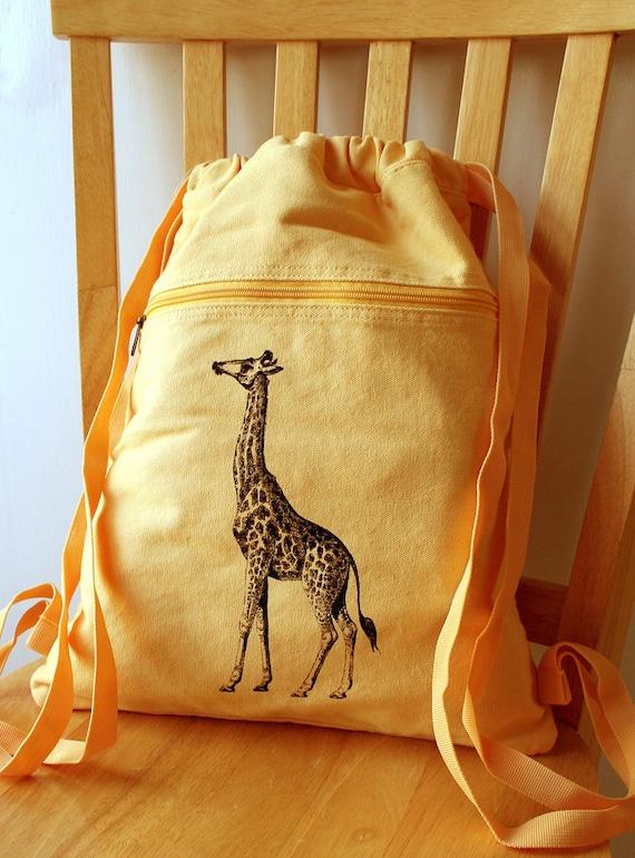 Giraffe Backpack Canvas Bag School Bag