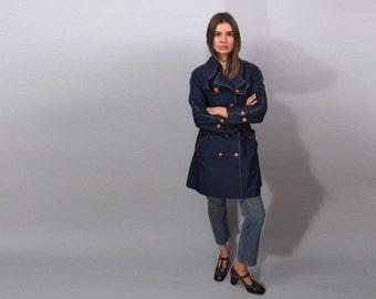 60s Mod Trench Coat, Raincoat, Vintage 60s Coat Δ size: md / lg