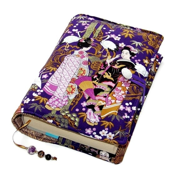 Beautiful Book Cover Handmade ~ Book cover handmade bible sleeve geisha ladies in japanese