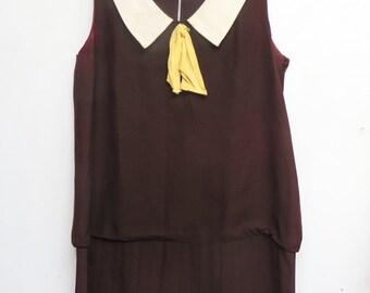 antique /vintage schoolgirl dress L