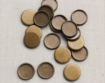 12mm cabochon settings - Antique Bronze, Silver, or Gunmetal