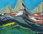 Idaho Painting, View of Grand Tetons, Driggs, ID, Original Art.