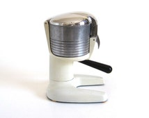 Juice King Juicer Metal Citrus Hand Press Chrome White JK50
