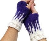 Crochet Pattern ~ Women's Drip Drop Mitts ~ Crochet Pattern