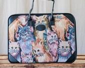 canvas cat briefcase