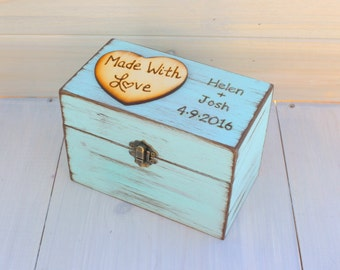 Rustic Recipe Boxes - Recipe Storage - Wood Recipe Box - Farmhouse Style Chic - Recipes Organizer - Fixer Upper Style - Rustic Home Decor