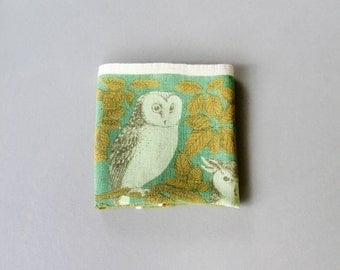 Vintage Linen Tea Towel Owls Fallani and Cohn