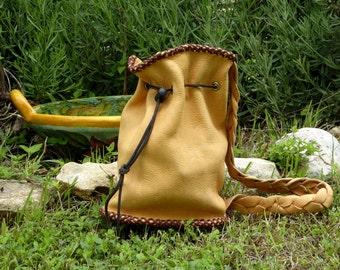 Vintage Elk Hide Bag Handmade, Elk Hide Carry All