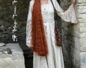 HAIR FALL STEAMPUNK hair 39''/ 100 cm fantasy hair piece Custom color cosplay extension Woodland fairy costume wig Larp elf Gothic Lolita