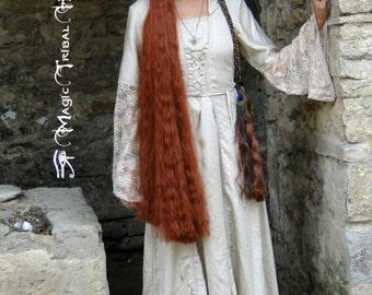 HAIR FALLS STEAMPUNK hair 39''/ 100 cm fantasy hair piece Custom color cosplay extension Woodland fairy costume wig Larp elf Gothic Lolita