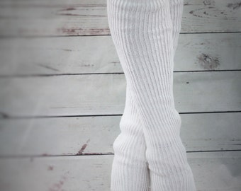 YOGA DANCE  legwarmers hand kranked and finished  80cm one size fits all WOOLBELND beautiful colours stirrup style poledancing Over the knee