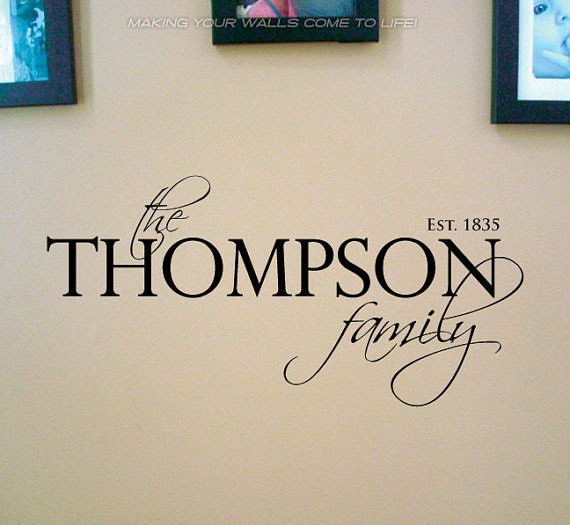 Personalized Family Name Wall Decals Family By