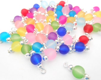Colorful Frosted Dangle Beads