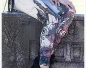 FANTASY LEGGING- Printed tights - screenprint art legging carousel ink