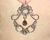OOAK Silver Earrings | Wire Wrapped Earrings | Dangle Earrings | Custom Earrings | Wire Wrapped Jewelry | Silver Dangle Earrings | OOAK Gift
