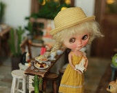 Miss yo 2016 Summer & Autumn - Vintage Inner Dress for Blythe doll - dress / outfit - Yellow