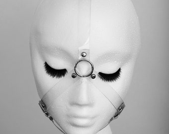 Clear Transparent PVC Face Harness Studded Face Mask  Accessory