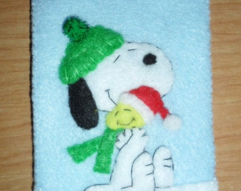 Peanuts Ornament Felt Christmas Snoopy Hugging Woodstock