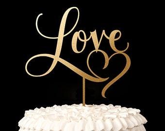 Wedding Cake Topper - Love -