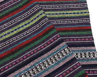 Thai Woven Cotton Fabric Tribal Fabric Native Fabric by the yard Ethnic fabric Aztec fabric Craft Supplies Woven Textile 1/2 yard (WF107)
