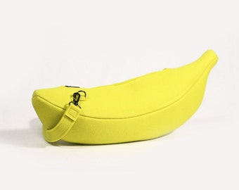 Banana Yellow Felt Bright Felt Purse Veggie