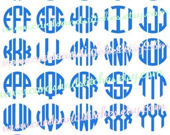 Monograms SVG - Round Monograms SVG - Digital Cutting File - Graphic Design - Vector File - Instant Download - Svg, Dxf, Jpg