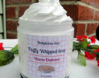 Fluffy Whipped Oatmeal Soap - Oatmeal Shaving Soap, Oatmeal Whipped Soap, Oatmeal Soap, Oatmeal Honey Soap, Oatmeal Cream Soap