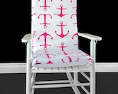 Rocking Chair Cushion Cover - Candy Pink Anchors