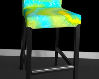 IKEA HENRIKSDAL Bar Stool Chair Cover - Tie Dyed Lime