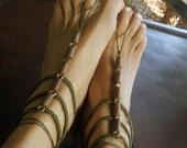 Gladiator Barefoot Sandals, Boho Barefoot Sandals, Earth Tone Boho Sandals, 1 Pair