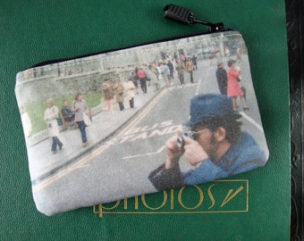 Double-Sided Coin Purse with Vintage Photos of Tourists