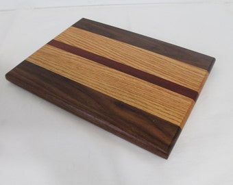 Cheese / Sushi Board Striped with Hardwoods Walnut, Oak and Bloodwood