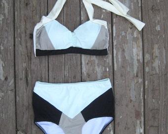 Colorblock Bathing suit