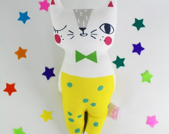Cat Soft Toy - Confetti Cats White Cat Plush Doll
