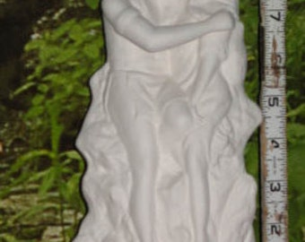 """10"""",Southwestern decor, Native American, Indian Lovers, Brave and Maiden,Romance, American Indian, Ready to paint, Ceramic bisque,  U-Paint"""
