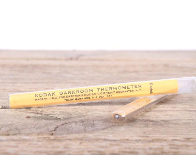 "Vintage Kodak Darkroom Thermometer / 5.5"" Yellow Eastman Kodak Company Camera Accessory / Dark Room Thermometer / Camera Decor Set Prop"
