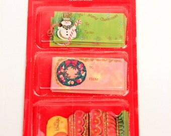 vintage Christmas gift tags // 25pc