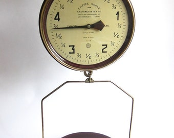 Antique Hanging Scales, Industrial Empire Scale and Cash Register Co 5lb Scale