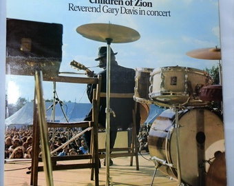 Vintage Vinyl LP Record Children Of Zion Reverend Gary Davis Concert 1971 Collectible Blues Transatlantic Records TRA 249 DanPickedMinerals