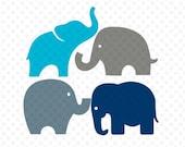 Elephants Svg, Elephant Svg, Elephants Silhouette Svg, Svg Files, Baby Elephant Svg, Cricut Cut Files, Silhouette Cutting Files